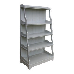 EuroLux Home - New Shelf Gray Painted Hardwood Stacked - Product Details