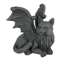TLT - 4 Inch Hand Painted Resin Winged Gargoyle Cat Statue, Grey - This gorgeous 4 Inch Hand Painted Resin Winged Gargoyle Cat Statue, Grey has the finest details and highest quality you will find anywhere! 4 Inch Hand Painted Resin Winged Gargoyle Cat Statue, Grey is truly remarkable.
