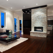 Contemporary Family Room by Etheridge Home Renovation