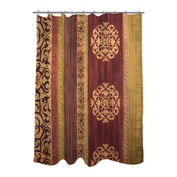 None - Thumbprintz Victorian II Shower Curtain - Lend your space an elegant touch with this shower curtain featuring a Victorian-inspired design. This shower curtain is crafted from polyester and is machine washable for fast and efficient laundering.