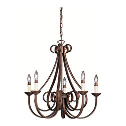 Kichler Lighting - Kichler Lighting 2021TZ Dover 5 Light Chandeliers in Tannery Bronze - Chandelier 5Lt