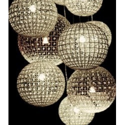 Walls Republic - Pendant Lights Wallpaper Mural M9012 - Pendant lights to illuminate your home! Create a high class luxurious look with these crystal lights.