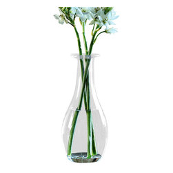 Fiona Vase - Large - Delicate grace embodies the Fiona Collection of vases. This small but stylish vase is the ideal vessel for a darling bloom of your choice set upon a vanity tray in your boudoir or perched on a side table next to a favorite framed photo. One can never have enough vases in their decorative arsenal.