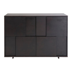 Eurostyle - Euro Style Cabrio Collection Buffet Sideboard in Wenge - Buffet Sideboard in Wenge in the Cabrio Collection by Eurostyle