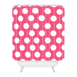 DENY Designs - Allyson Johnson Pinkest Pink Shower Curtain - Who says bathrooms can't be fun? To get the most bang for your buck, start with an artistic, inventive shower curtain. We've got endless options that will really make your bathroom pop. Heck, your guests may start spending a little extra time in there because of it!