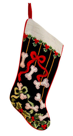 Dog Bones Holly Holiday Stocking - This precious Dog Bones Holly Holiday Stocking represents a timeless tradition. Perfect for your pups or favorite dog lovers to bring out year after year for Christmas morning celebrations!