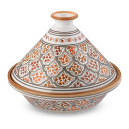 Tunisian Hand-Painted Mosaic Tagine - Picture perfect and utilitarian, this Tunisian hand-painted tagine from Williams-Sonoma is too pretty to lock in a cabinet. Display it on some open shelving.