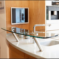 Modern Kitchen Countertops by SRF Glass Ltd
