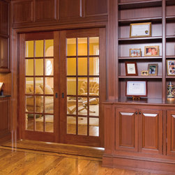 Traditional door - TruStile FL1500 in mahogany with Roman ogee (OG) sash and clear glass