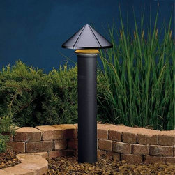 """Kichler - Kichler 15011BKT Six Groove Transitional Black Path & Spread Light 15011BKT - Textured Black finishBulb Included: Yes Collection: Six Groove Finish: Textured Black Height: 9.5"""" Primary Number of Lights: 1 Primary Wattage: 24.4 Watt Socket 1 Base: Wedge Socket 1 Max Wattage: 24 Style: Transition Switch Type: B Type: Land Path Light Voltage: 12 Volt Width: 11.5"""""""