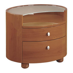"""Global Furniture - Emily/Evelyn Night Stand in Cherry Finish - Emily/Evelyn Night Stand in Cherry Finish;Features: Cherry Finish;Material: MDF, Paper Veneer;Weight: 64 lbs.;Dimensions: L24"""" / D20"""" / H20"""""""