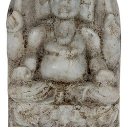 Consigned Antique Marble Kartikeya - This is 19th century marble carving of Kartikeya, son of Shiva. He is the warrior god which removes all obstacle . He is dharma, law and manifests himself as will power.