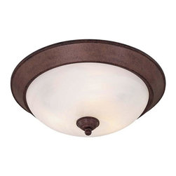Minka-Lavery - Minka-Lavery Flush Mounts 3-Light Flush Mount - 893-91 - This 3-Light Bowl Flush Mount has a Bronze Finish and is part of the Pacifica Collection.