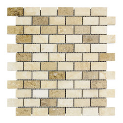 STONE TILE US - Stonetileus 10 pieces (10 Sq.ft) of Mosaic Noce-White-Medium 1x2 Polished - STONE TILE US - Mosaic Tile - Noce-White-Medium 1x2 Polished Specifications: Coverage: 1 Sq.ft size: 1x2 - 1 Sq.ft/Sheet Piece per Sheet : 66 pc(s) Tile size: 1x2 Sheet mount:Meshed back Stone tiles have natural variations therefore color may vary between tiles. This tile contains mixture of white - light brown - dark brown - and color movement expectation of high variation, The beauty of this natural stone Mosaic comes with the convenience of high quality and easy installation advantage. This tile has Polished surface, and this makes them ideal for walls, kitchen, bathroom, outdoor, Sheets are curved on all four sides, allowing them to fit together to produce a seamless surface area. Recommended use: Indoor - Outdoor - High traffic - Low traffic - Recommended areas: Noce-White-Medium 1x2 Polished tile ideal for floor, walls, kitchen, bathroom, Free shipping.. Set of 10 pieces, Covers 10 sq.ft.