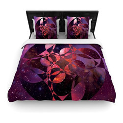 "Kess InHouse - Matt Eklund ""Galactic Brilliance Magenta"" Pink Purple Fleece Duvet Cover (Twin, - You can curate your bedroom and turn your down comforter, UP! You're about to dream and WAKE in color with this uber stylish focal point of your bedroom with this duvet cover! Crafted at the click of your mouse, this duvet cover is not only personal and inspiring but super soft. Created out of microfiber material that is delectable, our duvets are ultra comfortable and beyond soft. Get up on the right side of the bed, or the left, this duvet cover will look good from every angle."