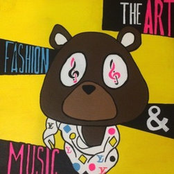 Kanye Bear (Original) by Brandon Lewis - Art, Fashion, Music... Homage to Kanye' College Dropout Bear