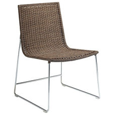 modern dining chairs by McGuire Furniture Company