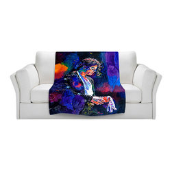 DiaNoche Designs - Throw Blanket Fleece - The Final Performance Michael Jackson - Original Artwork printed to an ultra soft fleece Blanket for a unique look and feel of your living room couch or bedroom space.  DiaNoche Designs uses images from artists all over the world to create Illuminated art, Canvas Art, Sheets, Pillows, Duvets, Blankets and many other items that you can print to.  Every purchase supports an artist!