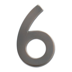 Dark Aged Copper 4-inch Floating House Number