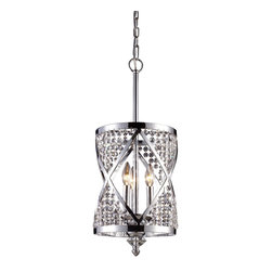 Elk Lighting - Elk Lighting ELK-11233-3 Crystoria Traditional Pendant Light - The Crystoria collection exhibits a new interpretation of the traditional lantern with its geometric crystal beaded motif. Finished in Polished Chrome, this lantern series blends traditional elegance with modern design elements. Convertible into a semi-flush mount.