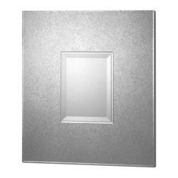 Uttermost - Andover Modern Mirror - Here's a modern mirror that will create an instant focal point. Hang it horizontally or vertically to show up the layered beveled center over a console table or mantle. Or hang it over the matching mirrored cabinet.