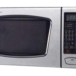 Emerson Radio Corp. - 0.9 Cubic-Foot Microwave Oven Stainless Steel - Emerson 0.9 CU. FT. 900 WATT. TOUCH-CONTROL MICROWAVE OVEN - Stainless Steel.  Microwave Power Output: 900 Watts.  0.9 Cubic Feet of Cooking Space.  10 Power Levels.  Quick Start With 30 Second Increment.  Seven Auto Menu Settings.  Time and Weight Defrost.  LED Display.  Digital Clock