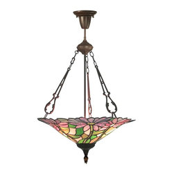 Dale Tiffany - Dale Tiffany Feora Tiffany Hanging Fixture, Antique Bronze - TH10505 - Antique bronze finish
