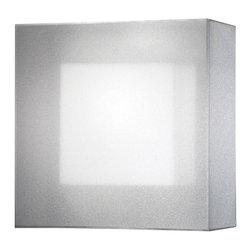 Fine Art Lamps - Quadralli Silver Sconce, 330950-2ST - This stylish modern sconce combines a solid square structure with an unexpectedly ethereal double shade. The gauzy organza screen hovers just outside the ivory crepe interior shade, creating a shimmering diffusion of light. Its atmospheric glow would look wonderful against a dark wall, or how about as moody bathroom lighting?