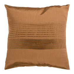Surya - Decorative  Pillow - HH021 - Features: -Material: 100% Polyester. -Color: Copper. -Perfect for livening up any couch or bed. -Fun design. -Hidden zipper closure. -Poly insert.