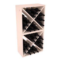 "Wine Racks America - 48 Bottle Wine Cube Collection in Ponderosa Pine, White Wash Stain - Two versatile 24 bottle wine cubes. Perfect for nooks, crannies, and converting that ""underneath"" space into wine storage. Mix and match finishes for a modern wine rack twist. Popular for its quick and easy assembly, this wine rack kit is a perfect storage solution for beginners and experts."