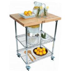 John Boos Rouge et Noir Metro Wire Kitchen Cart with Wood Top | Wayfair