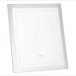"""Silver-Plated Engravable Picture Frame, 11 x 14"""" with optional Horizontal Person - Surround favorite images in classic silver-plated frames that are crafted to last. 8"""" wide x 10"""" high (holds one 4 x 6"""" photo) 9"""" wide x 11"""" high (holds one 5 x 7"""" photo) 12"""" wide x 14"""" high (holds one 8 x 10"""" photo) 16"""" wide x 19"""" high (holds one 11 x 14"""" photo) 14"""" wide x 10.5"""" high (holds three 4 x 6"""" photos) 16.5"""" wide x 9.25"""" high (holds two 5 x 7"""" photos) Made of steel with a silver-plated finish and a white mat. Display both vertically and horizontally. Monogramming is available at an additional charge. Can be engraved with up to 20 characters per line, each line centered above and below the photo opening. Catalog / Internet Only."""