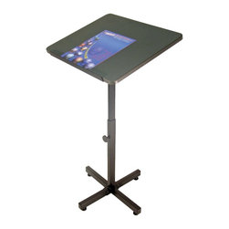 Luxor - Luxor Presentation Cart - PS3144 - Luxor's PS presentation stand up metal workstations are made with a laminate top with powder coat painted steel frame. Steel construction makes this unit suitable for industrial environments