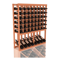 Wine Racks America - High Reveal Wine Rack Display in Redwood, (Unstained) - A highly decorative wine rack with all the elegance and functionality a wine enthusiast could want. Emphasize your favorite wine bottles with display rows and capture onlookers with dramatic lighting assemblies. The full beauty of this rack is maximized paired with any member from our wine rack family.