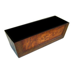 Cheung's - Wooden Ledge Rectangular Planter in Tan - This bright wide open square shaped planters best suits your home decor settings. Made of laminate wood with Brown. Suitable for both indoor and outdoor use. This multi-functional piece makes a great thoughtful housewarming gift. 13.5 in. L x 4.75 in. W x 4.5 in. H (1 lbs)