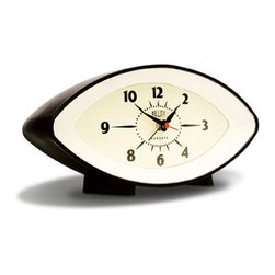 Time's Eye Alarm Clock - This eye-catching clock is a great way to introduce mid-century modern design into your home without sacrificing your affinity for the eclectic. Vintage-inspired, this clock gets you going each morning in style.