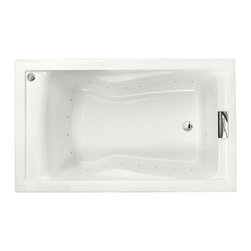 """American Standard - American Standard 2771.V068C.020 White Evolution Evolution 60"""" Acrylic - Product Features:Fully covered under a lifetime warranty; including free lifetime in-home serviceManufactured and assembled in the United States of AmericaAir Bath; soothing heated air bubble actionUndermount or drop-in installation: tub lip is free of any interfering objects; drop it into a pre-cut area or build a surround over the lipConstructed of ultra-durable fiberglass-reinforced acrylicSurfaced with the industry s best stain-blocking high-gloss finishTub proportions and contour designed by industry leading ergonomics engineersSlip-resistant flooring - textured finishing technique appliedSelf-leveling base structural support cuts installation time and costsChrome air-release caps for Air Bath system - different finishes may be purchased separately and will be offered upon adding to cartTub waste (drain) is not included - this will be presented upon adding to cart, with multiple available finishesLuxury Bathing Experience:Air Bath: A unique form of hydrotherapy, Air Bath systems disperse millions of heated air bubbles through release points surrounding the perimeter of the tub. As the bubbles gently break against your skin, the full-body experience is like being lightly caressed all over. Air baths are warm, calming, and spiritual.Technologies / Benefits:Lifetime Warranty with In-Home Service: This tub is covered under the industryÂ's only Limited Lifetime Warranty with free lifetime in-home service. This speaks volumes to the quality of American Standard tubs.Variable Speed Air Blower with Heater: The Air Bath system on this tub uses a variable speed motor that allows you to select between a calm and gentle setting or brisk and invigorating. The air released is also comfortably pre-heated."""