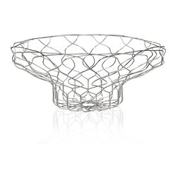 "Alessi - Alessi ""Spirogira"" Wire Centerpiece - This magnificent centerpiece holds items as it holds your guests' attention. Decorative orbs or other similar accessories nestle in nicely amid the wire outlines, creating further visual interest."
