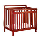 AFG Baby - AFG Baby Mini Amy Crib in Cherry - Taking cues from the Amy full-size crib to offer a portable version, the Mini Amy Crib is the choice for your little one. The fine craftsmanship combines function and style. Simple, clean lines and a variety of classic finishes allow the mini Amy to complement your other home furnishings. A 1-inch mattress pad is included for your child's comfort and a 4-level adjustable mattress support lets you adapt to your child's growth. Choose the Mini Amy to fill your limited space or if you just want a portable crib that is stylish and durable.