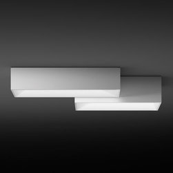 Vibia - Link Flushmount by Vibia - A Lego-like overhead lighting alternative, the Vibia Link Flushmount is a series of preconfigured patterns of rectangular light boxes. Available in four uniquely arranged and sized compositions, Link's shallow profile makes it an ideal candidate for residential or commercial spaces with low ceiling considerations. Dimmable with the addition of an electronic low voltage (ELV) dimmer. Vibia, headquartered in Barcelona, Spain, designs and manufactures modern and contemporary lighting and living accessories. The entire Vibia line features works by prominent designers known for superb European lighting.