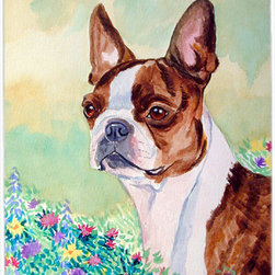 Caroline's Treasures - Red And White Boston Terrier Glass Cutting Board Large Size - Large Cutting Board .. . Made of tempered glass, these unique cutting boards are some of your favorite artists prints. 15 inches high and 12 inches long, they will beautify and protect your counter top. Heat resistant, non skid feet, and virtually unbreakable!