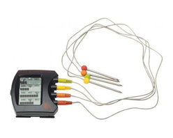 Bull BBQ - Bull Outdoor Steak Station Digital Meat Thermometer - The Steak Station Digital Meat Thermometer can be used on your grill or oven and monitors up to 4 steaks. Each block and corresponding arrow lights as temperature progress.