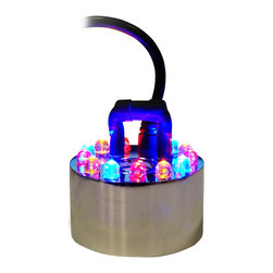 Alpine Corporation - Alpine Pond Fogger Single Jet w/ LED Lights - Simply place in fountain, plug it in, and instantly the free flowing fog creates an atmosphere of mystery and intrigue. Ultrasonic technology eliminates the need for any chemicals. The dry ice effect without the dry ice!