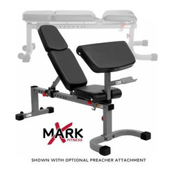 XMark Commercial Flat Incline Weight Bench - Upper body and abs get a top-grade workout with the XMark Commercial Flat Incline Weight Bench. Designed for both home and commercial use, this weight bench frame is constructed of 11-gauge, 2x3-inch steel. The three-inch-thick Duracraft cushions are covered in tear-resistant, double-stitched vinyl, and the ergonomic seat adjustment from flat to military press position.About XMark Fitness With decades of experience designing and producing fitness equipment for home and commercial use, X truly MARKs the spot with this fine Louisiana company! XMark's mission is to give folks undeniable results, outstanding prices, and great customer service and like any great fitness regimen, it's been a formula for success. Today, XMark Fitness leads the way in bars, benches, freeweights, MMA accessories and more due to their attention to detail and focus on quality construction and ergonomic designs that are comfortable to use. XMark Fitness' drive to redefine excellence has led to innovative products that fit any budget without sacrificing quality, exceeding the industry standard wherever possible to give you the best workout for your dollar! Best of all, their dedication to helpful customer service is unmatched so if you have a question regarding your home gym or your workout, there's a professional standing by to give you the answers you need to improve your lifestyle today.