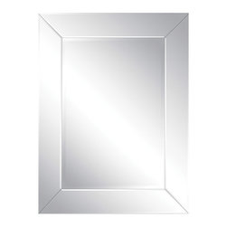 Ren-Wil - Tribeca Rectangular Mirror - Tribeca Mirror adds beauty to any room with its 5 polished beveled mirror frame and rectangular beveled center mirror.