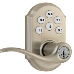 Kwikset - Kwikset Satin Nickel Lever Deadbolt - The SmartCode Lever with Home Connect Technology featuring Z-Wave enables the door lock to wirelessly communicate with other devices in home. The lock allows the user through a web enabled device to remotely check the door lock status, lock or unlock the. The perfect solution for home office, storage room, or interior garage door where the security of a deadbolt is not required