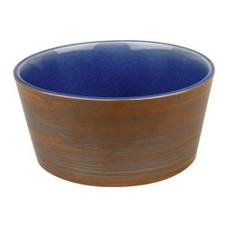 Waechtersbach Pure Nature Blue Cereal Bowls - Set of 4 - The perfect, cheery way to greet the morning is with a big bowl of your favorite cereal in the Waechtersbach Pure Nature Blue Cereal Bowls - Set of 4. These high-quality stoneware bowls are dishwasher-safe, but not recommended for microwave or oven use. Hand-glazed in a bright blue tone with craquelure effect, each piece is slightly different for a unique appeal. The unglazed surface reveals a wood-like structure in the color and grain for a truly rustic look.Set includesFour 6-inch cereal bowlsAbout Waechtersbach USAIf you're looking for big, bold color at the dinner table, you've found it with the distinctive designs of Waechtersbach USA, the US division of the renowned German company. Since 1832, Waechtersbach has been crafting colorful ceramic products that celebrate the beauty of color, from everyday dinnerware to more formal serving ware. Waechtersbach has been in business for over 175 years and they always keep an eye on contemporary environmental needs with their dedicated manufacturing processes that utilize optimal machinery and expend less carbon dioxide.