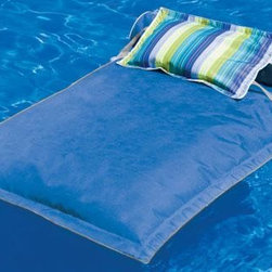 Home Decorators Collection - Pillowtop Pool Float - Our Pillowtop Pool Float is the ultimate way to relax. Imagine being gently held above, yet within water while being caressed by the cool sea breeze. Made with fade-proof Sunbrella Marine Fabric for lots of outdoor enjoyment. Order one for your pool today. Stain resistant, mold/mildew resistant, worry free. Your choice of a wide range of colors. Roll pillow pictured is not included.