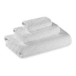 Barbara Barry - Barbara Barry Classic Bath Towel - Decorate your bathroom with the timeless elegance of this towel collection by Barbara Barry's hallmark. Features an understated diamond motif end hem.
