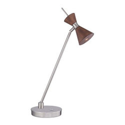 Kovacs - Kovacs P1822-651-L 1 Light LED Desk Accent Lamp - Single Light LED Desk Accent Lamp with Distressed Koa Shade from the Conic CollectionFeatures: